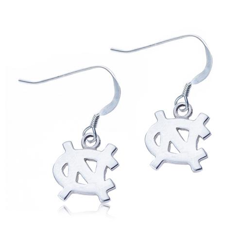 Sterling Silver University of North Carolina Dangle Earrings