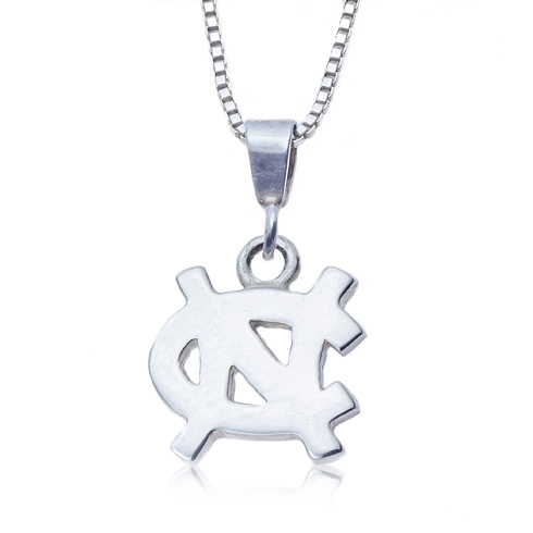 Sterling Silver University of North Carolina NC Necklace