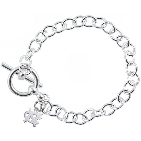 Sterling Silver 7 1/2in University of North Carolina Link Bracelet