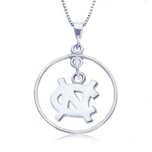 Sterling Silver 16in Open Drop UNC Necklace