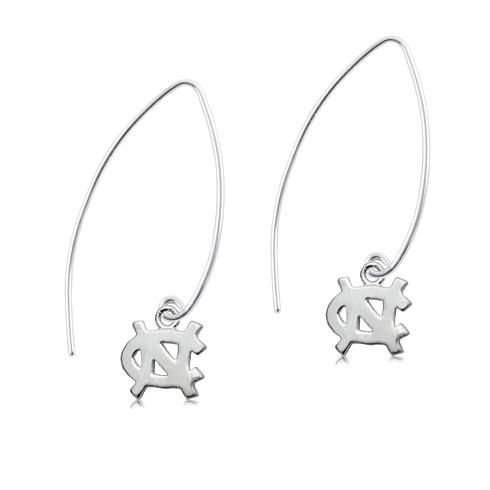 Sterling Silver UNC Long Fishhook Earrings