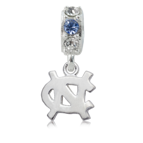 Sterling Silver University of North Carolina Spirit Charm Bead