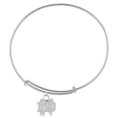 Sterling Silver Univ of Notre Dame Charm Adjustable Bracelet