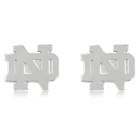Sterling Silver University of Notre Dame Post Earrings