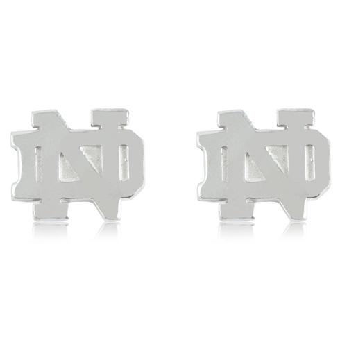 Sterling Silver University of Notre Dame Post Earrings