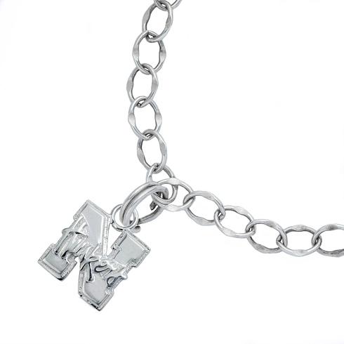 Sterling Silver 7 1/2in University of Nebraska Charm Bracelet