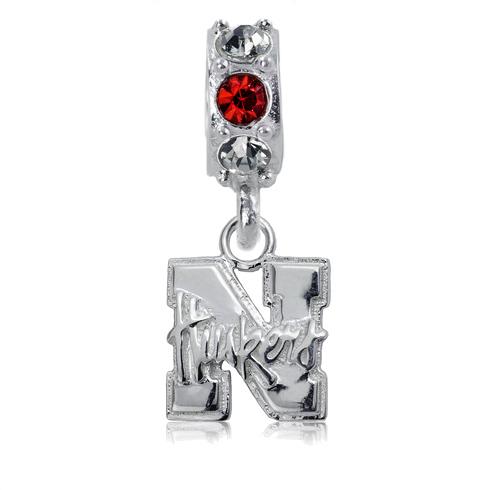 Sterling Silver University of Nebraska Spirit Charm Bead