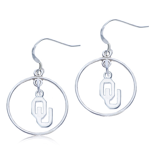 Sterling Silver Open Drop Oklahoma Earrings