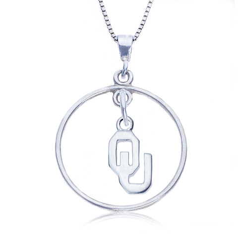 Sterling Silver 16in Open Drop Oklahoma Necklace