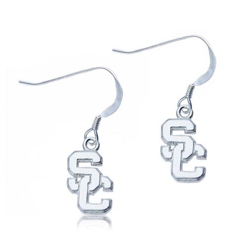 Sterling Silver University of Southern California SC Earrings