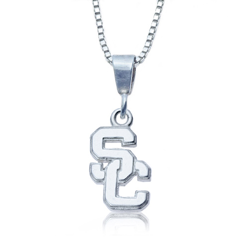 Sterling Silver Charm USC Necklace