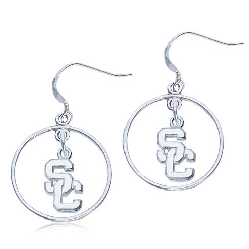 Sterling Silver Open Drop USC Earrings