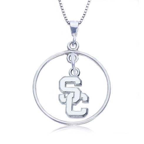Sterling Silver 16in Open Drop USC Necklace