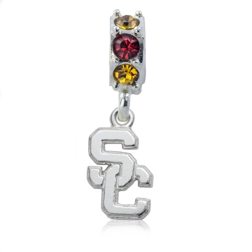 Sterling Silver University of Southern California Spirit Charm Bead