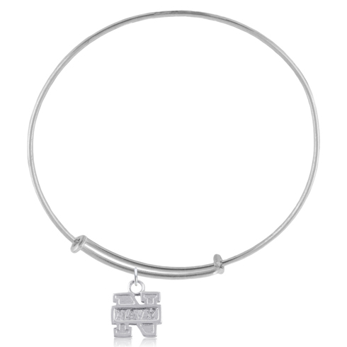 Sterling Silver US Naval Academy Charm Adjustable Bracelet