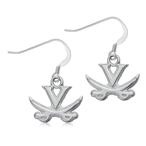 Sterling Silver University of Virginia Dangle Earrings