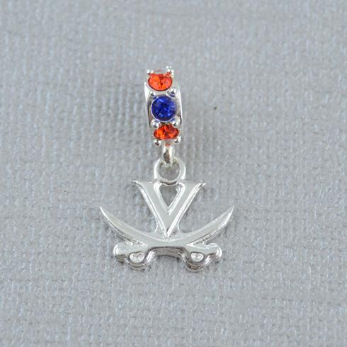 Sterling Silver University of Virginia Spirit Charm Bead