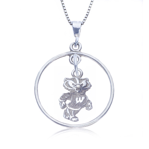 Sterling Silver 16in Open Drop Wisconsin Necklace