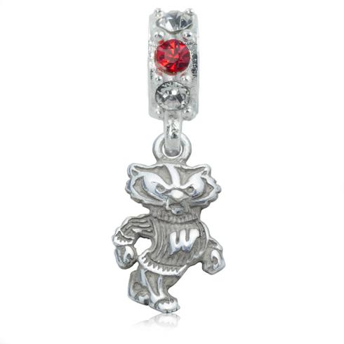 Sterling Silver University of Wisconsin Spirit Charm Bead