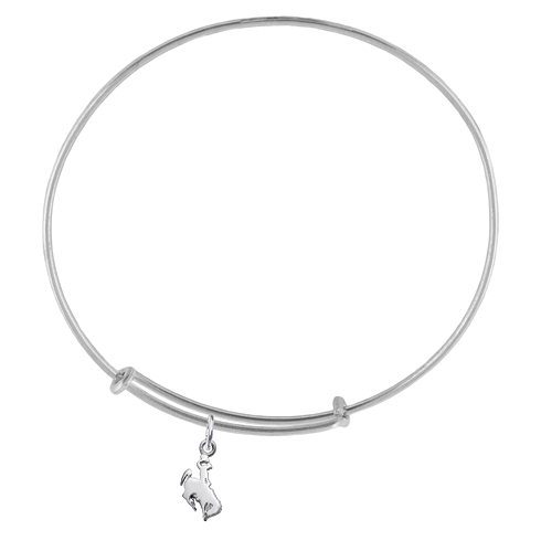 Sterling Silver Univ of Wyoming Charm Adjustable Bracelet