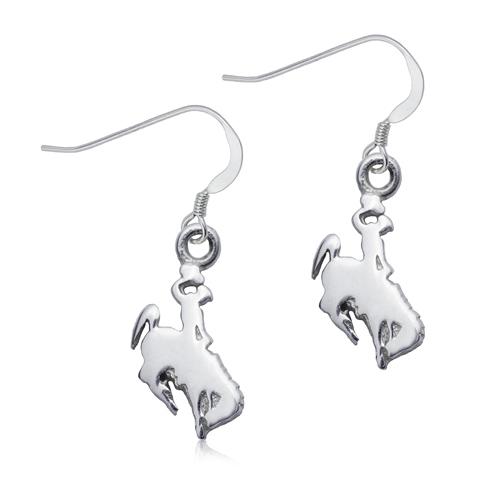 Sterling Silver University of Wyoming Dangle Earrings