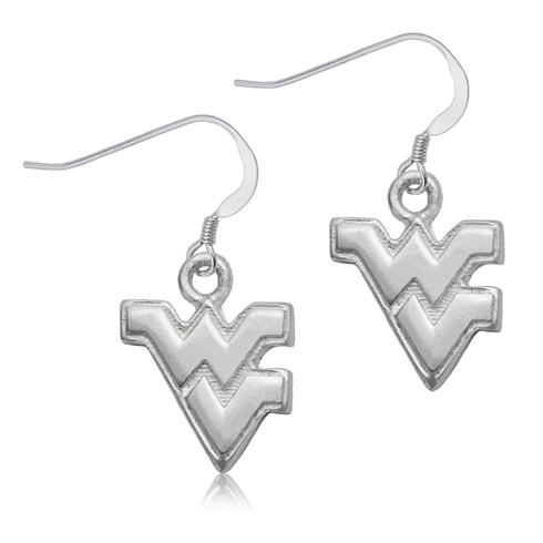 Sterling Silver West Virginia Dangle Earrings