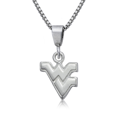 Sterling Silver 16in West Virginia University Charm Necklace