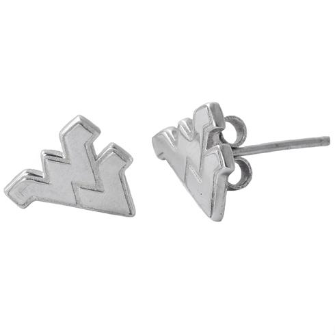 Sterling Silver West Virginia University Post Earrings