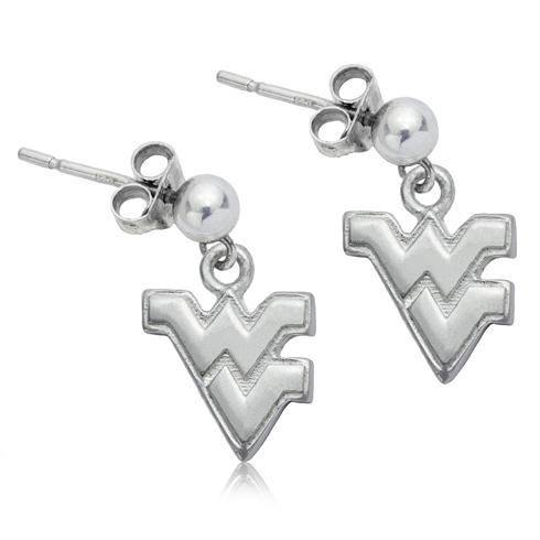 Sterling Silver West Virginia University Post Dangle Earrings