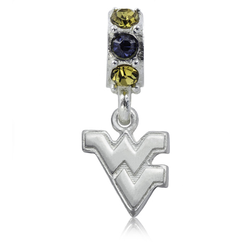 Sterling Silver West Virginia University Spirit Charm Bead