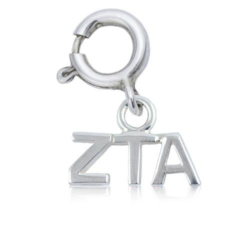 Sterling Silver Zeta Tau Alpha Charm