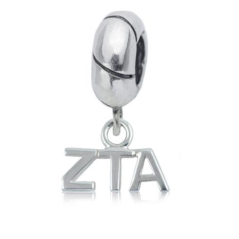 Sterling Silver Zeta Tau Alpha Charm Bead