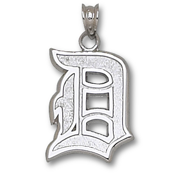 Sterling Silver 11/16in Duquesne University D Pendant