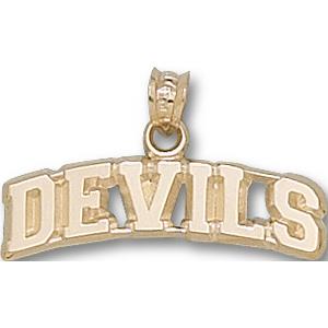 New Jersey Devils 1/4in 14k Pendant