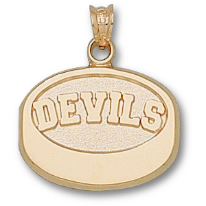 New Jersey Devils 5/8in 10k Puck Pendant