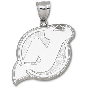 New Jersey Devils Giant Sterling Silver Pendant