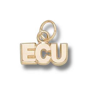 10kt Yellow Gold 3/16in East Carolina Pirates ECU Charm