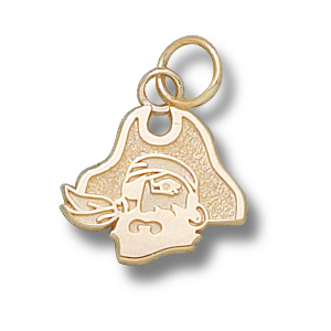 East Carolina Pirates 7/16in 14k Head Pendant