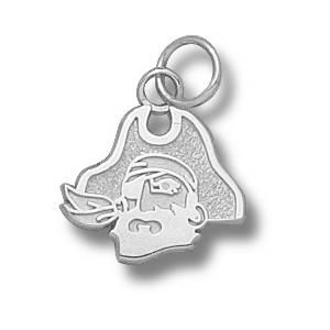 East Carolina Pirates 7/16in Sterling Silver Head Pendant
