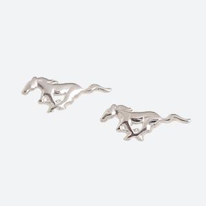 Ford Sterling Silver Mustang Earrings