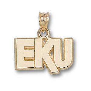 10kt Yellow Gold 3/8in Eastern Kentucky EKU Pendant