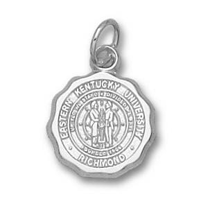 Sterling Silver 1/2in Eastern Kentucky Seal Pendant