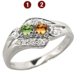 Enchanting Mother's Ring Sterling Silver