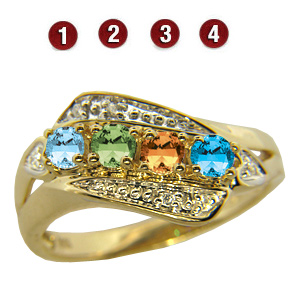 Gold-plated Sterling Silver Enchanting Mother's Ring