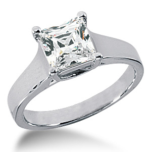 1.72 CT TW 14KW Moissanite Lucern Ring