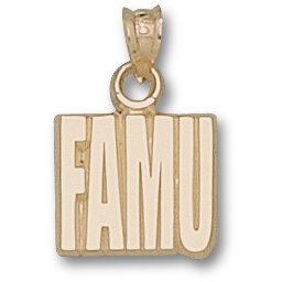 10kt Yellow Gold 1/2in Florida A&M University FAMU Pendant
