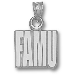 Sterling Silver 1/2in Florida A&M University FAMU Pendant