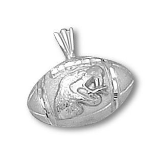 Sterling Silver 1/2in Florida A&M Football Pendant