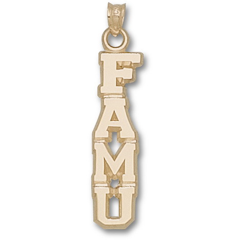 10kt Yellow Gold 1 1/4in Florida A&M Vertical Pendant