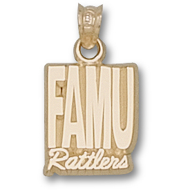 FAMU Rattlers 1/2in Pendant 10kt Yellow Gold